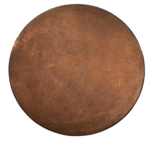 Round Hammered Copper Lamp Table