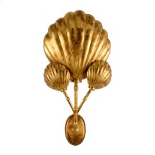 Shell Sconce - Gold