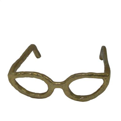 Gold Glasses Sculpture