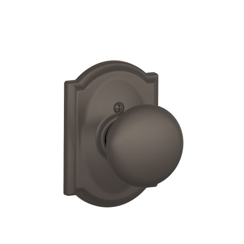 Plymouth Knob with Camelot trim Non-turning Lock - Oil Rubbed Bronze