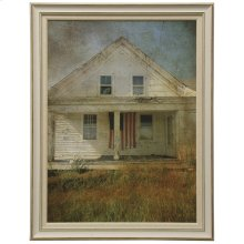 Old Glory  Made in USA  Traditional Farmhouse Wall Art  Textured Framed Print