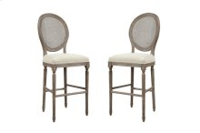 "Emerald Home Salerno Barstool 30"" W/uph Seat-rattan Back-sand Gray/distressed Finish-u3693-30-09 (copy)"