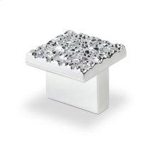 Mosaic Design Square Knob, Bright Chrome, 25mmx25mm
