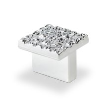 Mosaic Design Square Knob, Bright Chrome, 25mmx25mm