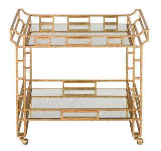 Odeon Bar Cart - 35.5h x 36w x 19.75d