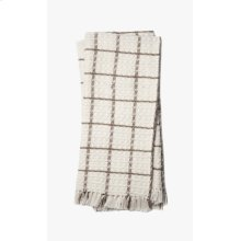T0036 Ivory / Taupe Throw