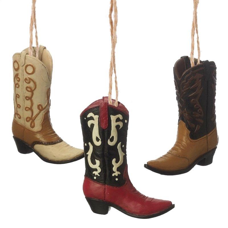 15c87fda153 Cowboy Boot Ornament (3 asstd). Hidden