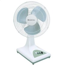 CZ161 16-inch Oscillating Table Fan, White