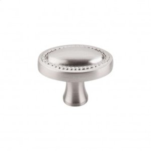 Oval Rope Knob 1 1/4 Inch - Brushed Satin Nickel
