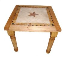 4' Counter Marble Table W/star
