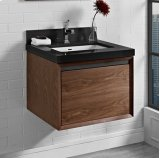 "m4 24"" Wall Mount Vanity - Natural Walnut Product Image"
