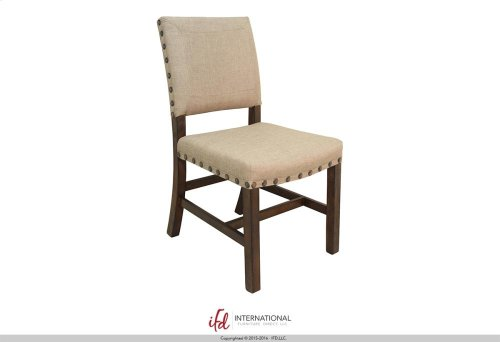 Upholstered Chair - 100% Polyester with a linen appearance**
