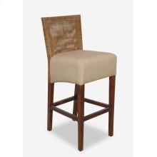 (LS) Karyn Barstool-w/ Back-Seat Upholster (18x20x44)