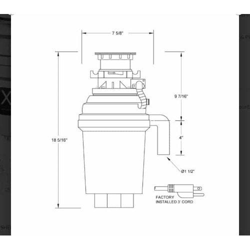 1 HP Twist Lock Mount, Batch Feed Disposal