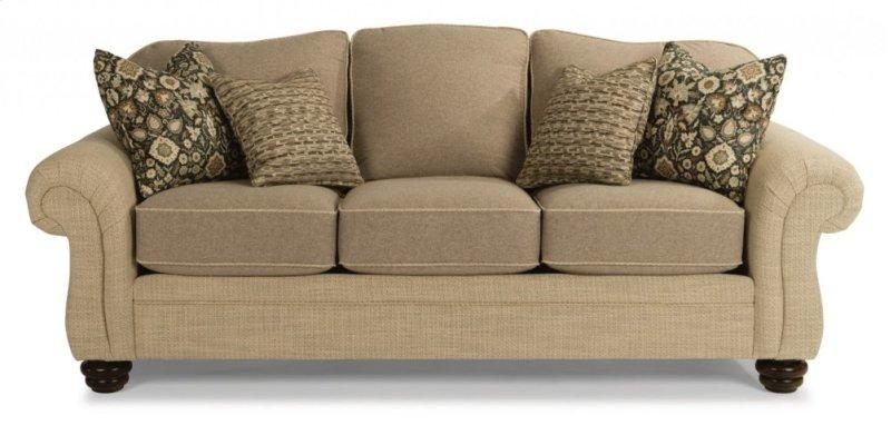Bexley Two Tone Fabric Sofa Without Nailhead Trim