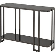 Bogdon Console Table in Black Nickel Product Image