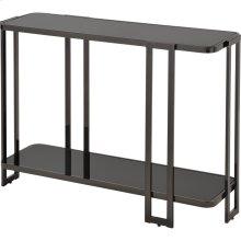 Bogdon Console Table in Black Nickel