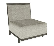 "32"" Grey & Tan Rattan One-Seat Centre Sofa Sectional, Upholstered in Standard Outdoor Fabric"