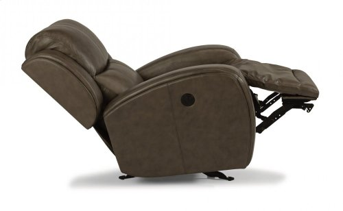 Chaz Leather Power Gliding Recliner