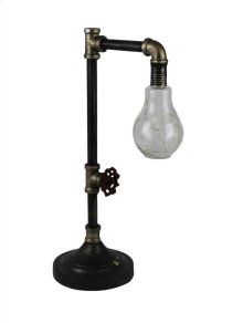 Metal Pipe Table Lamp W/ Stringed LED