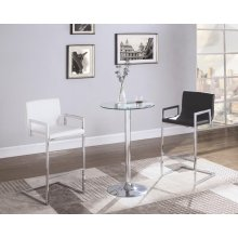 Contemporary Chrome Bar Table