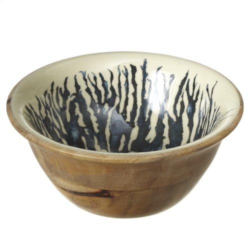 Ivory & Blue Coral Salad Bowl