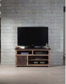 50 Inch Console - Distressed Dark Pine Finish Product Image