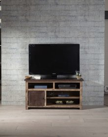 50 Inch Console - Distressed Dark Pine Finish