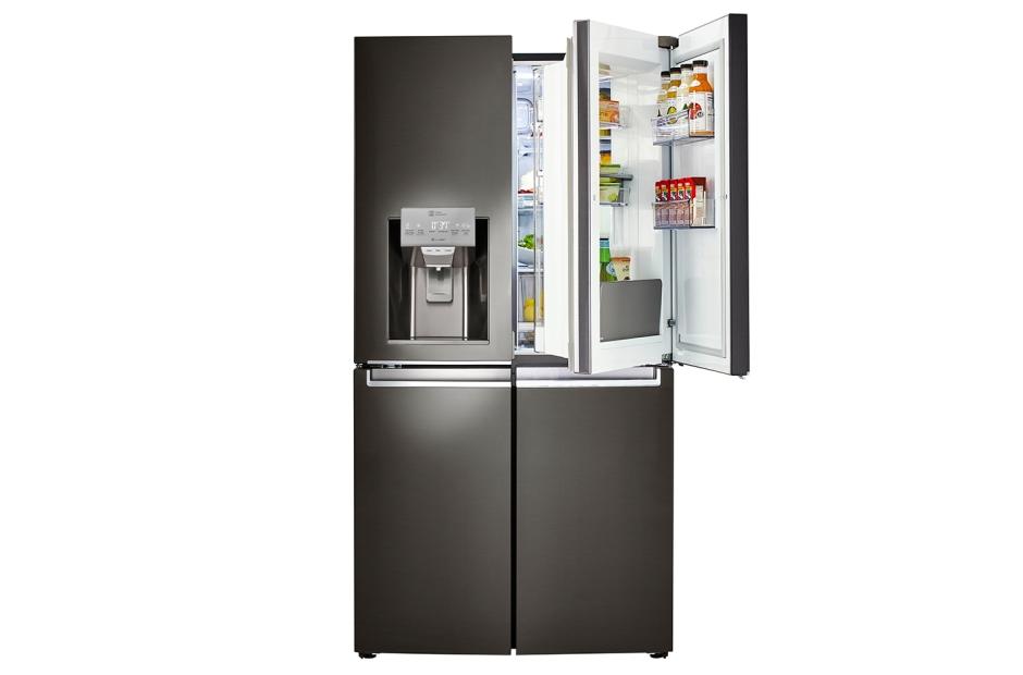 lg black stainless steel refrigerator. LG Black Stainless Steel Series 30 Cu. Ft. 4-Door Refrigerator With Door Lg K