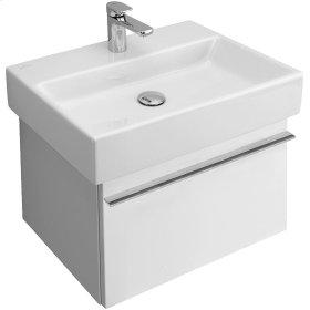 """Washbasin 24"""" Angular - Glossy Black Ceramicplus"""