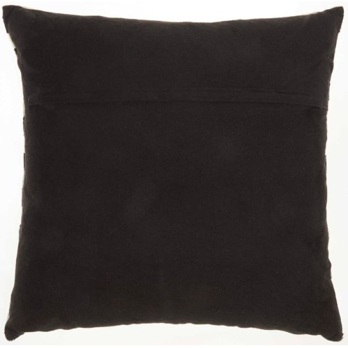 """Natural Leather Hide S3219 Multicolor 20"""" X 20"""" Throw Pillow"""
