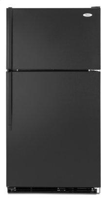 Black-on-Black Whirlpool® 21 cu. ft. ENERGY STAR® Qualified ADA Compliant Top Mount Refrigerator