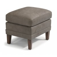 Max Leather Ottoman Product Image