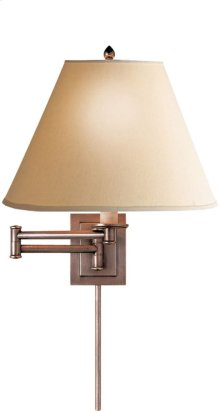 Visual Comfort S2500AN-L Studio Primitive 18 inch 75 watt Antique Nickel Swing-Arm Wall Light in Linen