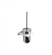 AS160 - Toilet Brush with Wall Mounted Corian holder - Polished Chrome
