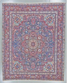 """PERSIAN 000044937 IN NAVY RED 12'-4"""" x 15'-1"""""""
