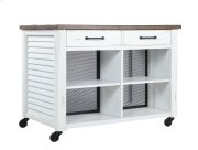 Emerald Home Ac445-07 Whitmire Kitchen Cart, Wite Product Image