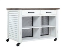 Emerald Home Ac445-07 Whitmire Kitchen Cart, Wite