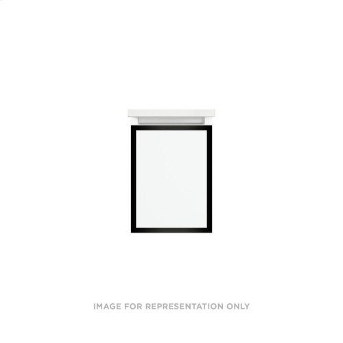"""Profiles 12-1/8"""" X 15"""" X 18-3/4"""" Framed Single Drawer Vanity In White With Matte Black Finish, Slow-close Full Drawer and Selectable Night Light In 2700k/4000k Color Temperature"""