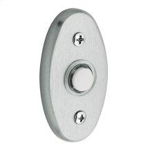 Satin Chrome Oval Bell Button