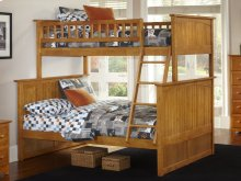 Nantucket Bunk Bed Twin over Full in Caramel Latte