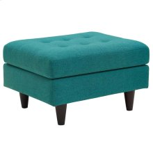 Empress Upholstered Fabric Ottoman in Teal