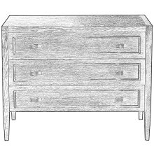 Toulon Chest, Whitewash White