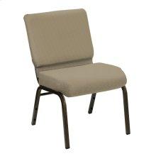 Wellington Walnut Upholstered Church Chair - Gold Vein Frame