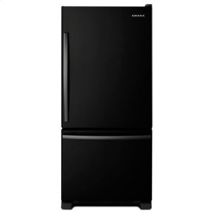 AMANA29-inch Wide Bottom-Freezer Refrigerator with EasyFreezer(TM) Pull-Out Drawer -- 18 cu. ft. Capacity - black