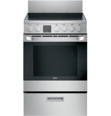 """24"""" 2.9 Cu. Ft. Electric Free-Standing Range with Convection and Modular Backguard"""