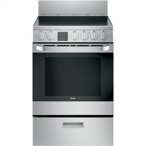 "Haier Appliance24"" 2.9 Cu. Ft. Electric Free-Standing Range with Convection and Modular Backguard"