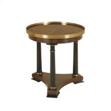 WALNUT/MATTE BLACK OCCASIONAL TABLE