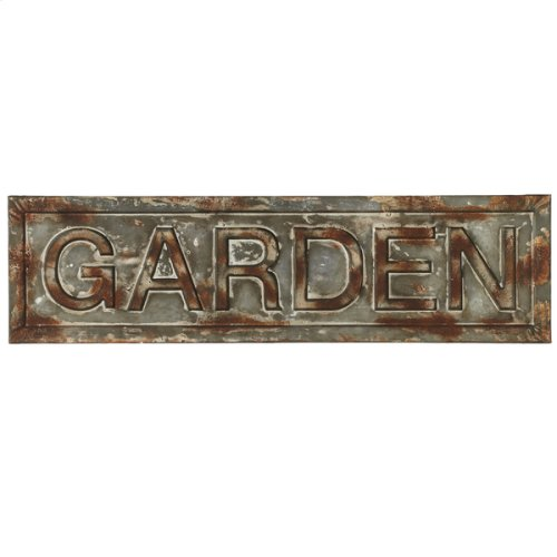 Distressed Galvanized Garden Wall Decor