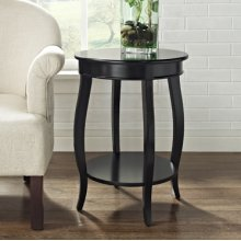Black Round Table with shelf